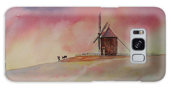 End Of The Day Windmill Of Moidrey Galaxy Case
