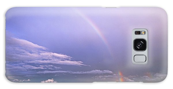 End Of The Rainbow Sebago Lake Maine Galaxy Case by Butch Lombardi