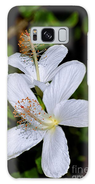 Endangered Koki'o White Hibiscus Galaxy Case