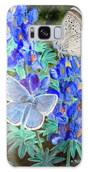Endangered Mission Blue Butterfly Galaxy Case