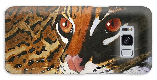 Endangered - Ocelot Galaxy Case by Mike Robles