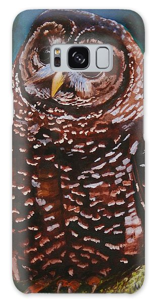 Endangered - Spotted Owl Galaxy Case by Mike Robles