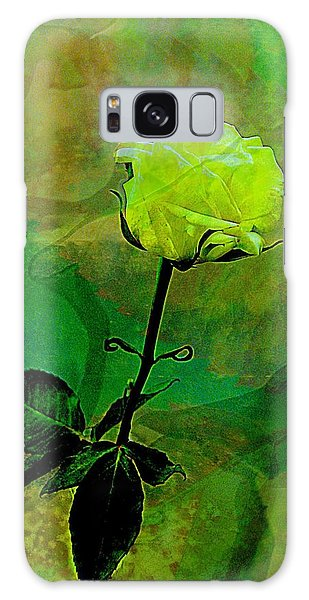 Enduring Yellow Rose Galaxy Case by Shirley Sirois