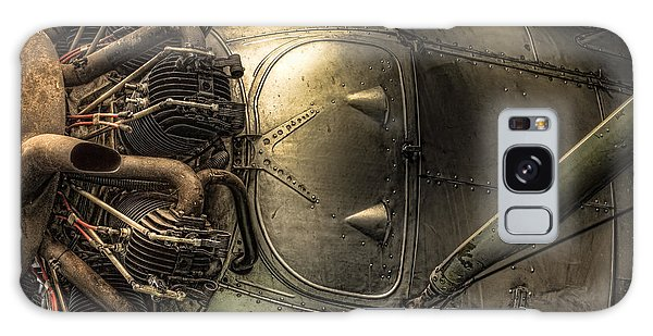 Radial Engine And Fuselage Detail - Radial Engine Aluminum Fuselage Vintage Aircraft Galaxy Case