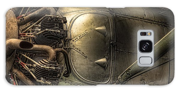 Galaxy Case featuring the photograph Radial Engine And Fuselage Detail - Radial Engine Aluminum Fuselage Vintage Aircraft by Gary Heller