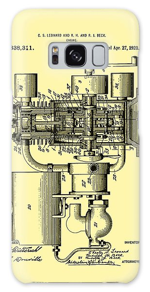 Old Truck Galaxy Case - Engine Patent 1920 by Mountain Dreams