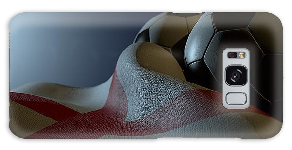 Front Galaxy Case - England Flag And Soccer Ball by Allan Swart