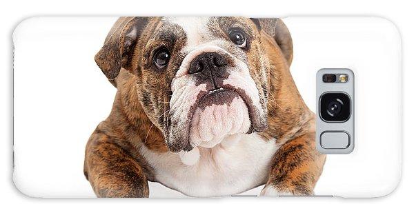 English Bulldog Laying Looking Up Galaxy Case
