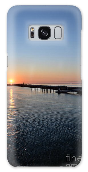 English Channel Sunset Galaxy Case