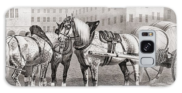 Cart Galaxy Case - English Farm Horses, 1823 by French School