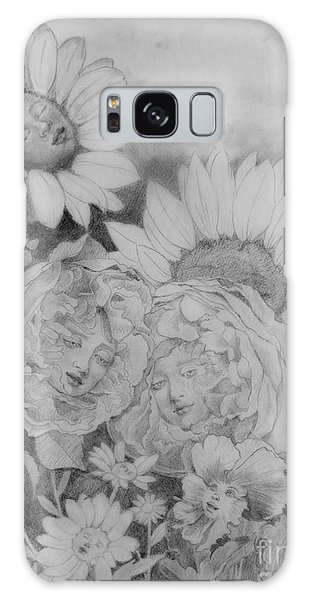 English Roses African Sunflower Galaxy Case
