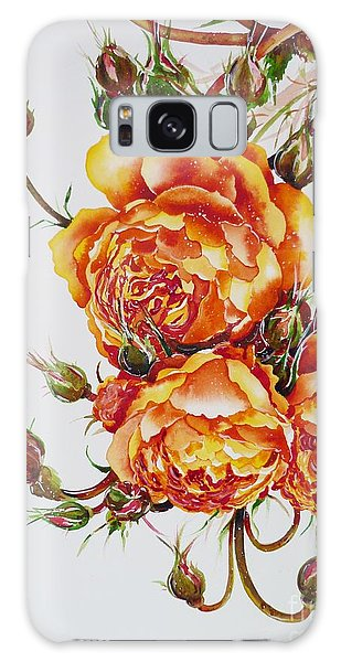 English Roses Galaxy Case by Zaira Dzhaubaeva