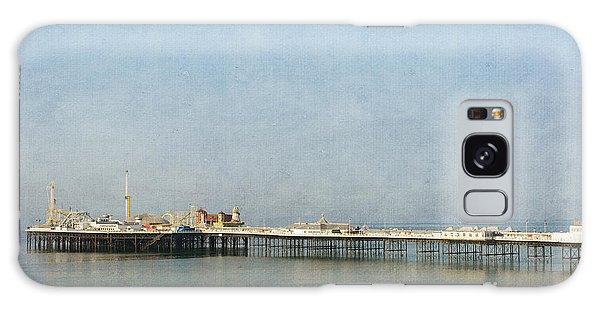 English Victorian Seaside Pier - Textured Galaxy Case