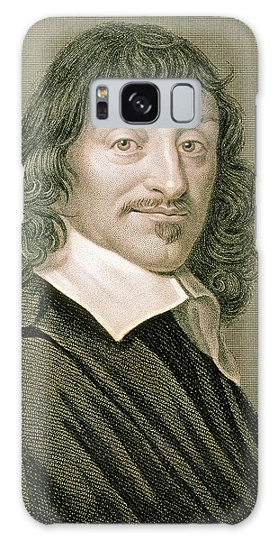 Philosopher Galaxy Case - Engraving Of French Mathematician Rene Descartes by Sheila Terry/science Photo Library