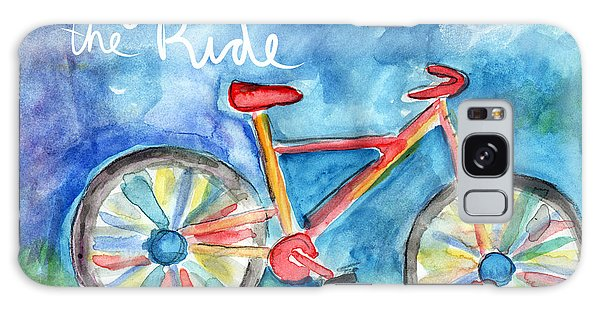 Woods Galaxy Case - Enjoy The Ride- Colorful Bike Painting by Linda Woods