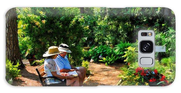 Loving Couple Enjoying Their Prayer Garden Galaxy Case