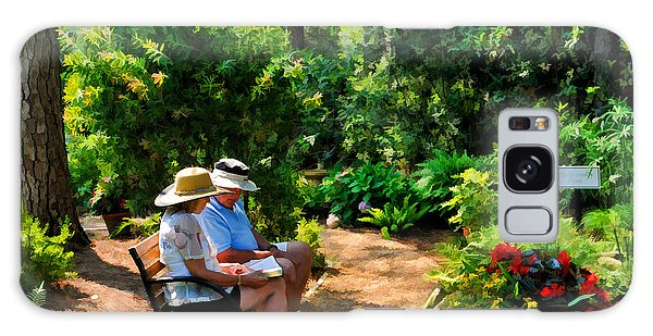 Loving Couple Enjoying Their Prayer Garden Galaxy Case