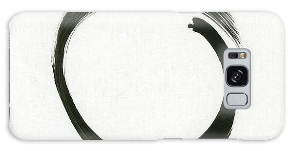 Enso #1 - Zen Circle Minimalistic Black And White Galaxy Case