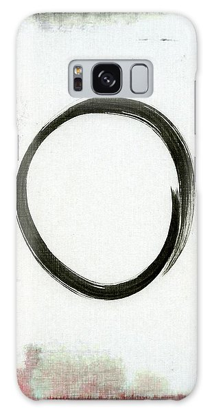 Enso #2 - Zen Circle Abstract Black And Red Galaxy Case