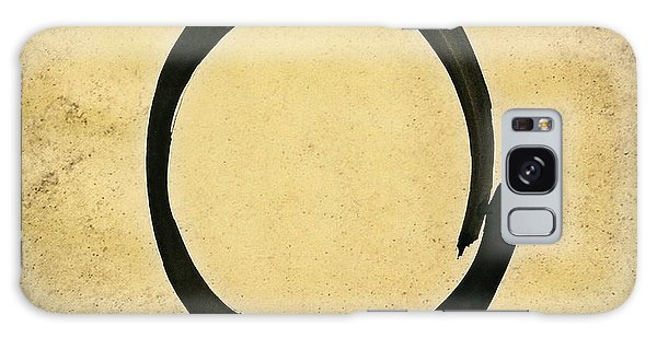 Enso #4 - Zen Circle Abstract Sand And Black Galaxy Case