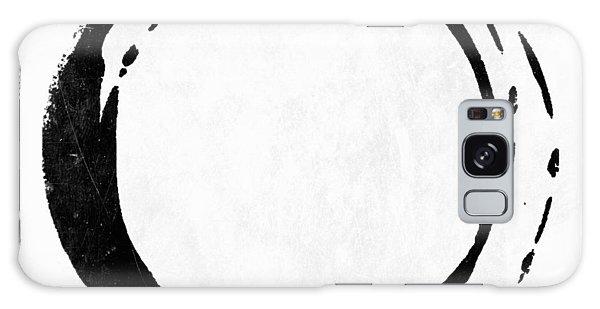 Enso No. 107 Black On White Galaxy Case