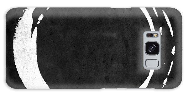 Enso No. 107 White On Black Galaxy Case