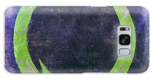 Enso No. 108 Green On Purple Galaxy Case