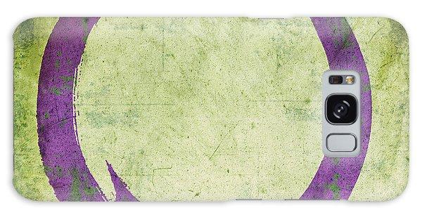 Enso No. 108 Purple On Green Galaxy Case