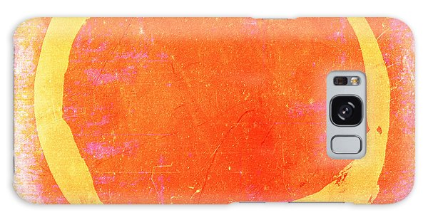 Enso No. 109 Yellow On Pink And Orange Galaxy Case