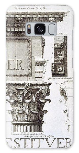 Decorative Galaxy Case - Entablature, Capital And Inscription by Antoine Babuty Desgodets