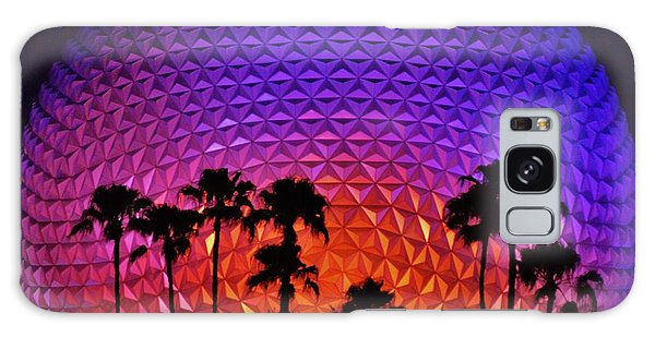 Epcot Ball With Palm Trees Galaxy Case by William Bartholomew