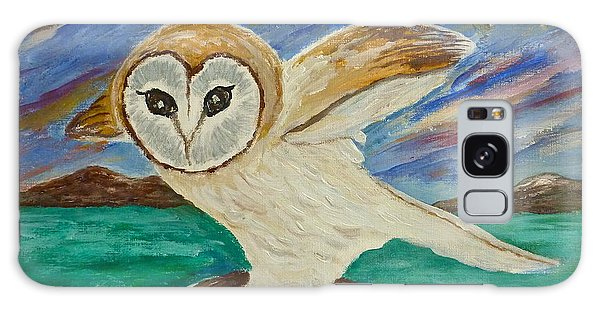 Equinox Owl Galaxy Case by Victoria Lakes