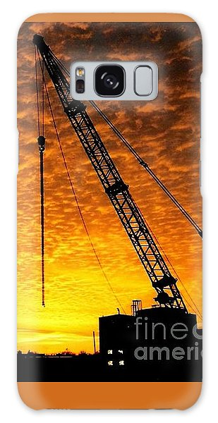 Erecting A Sunset In Beaumont Texas Galaxy Case
