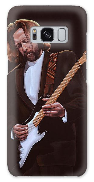 Cd Galaxy Case - Eric Clapton Painting by Paul Meijering
