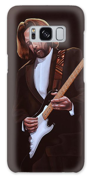 Eric Clapton Painting Galaxy Case by Paul Meijering