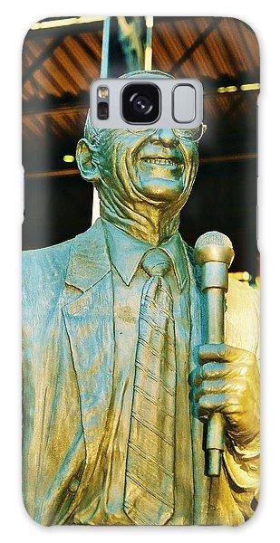 Ernie Harwell Statue At The Copa Galaxy Case by Daniel Thompson