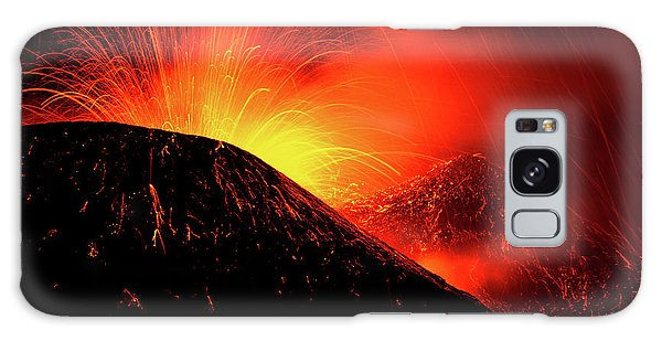 Geology Galaxy Case - Eruption By Night by Simone Genovese