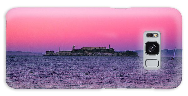 Escape From Alcatraz Under A Pink Sunset In A Sailboat Galaxy Case