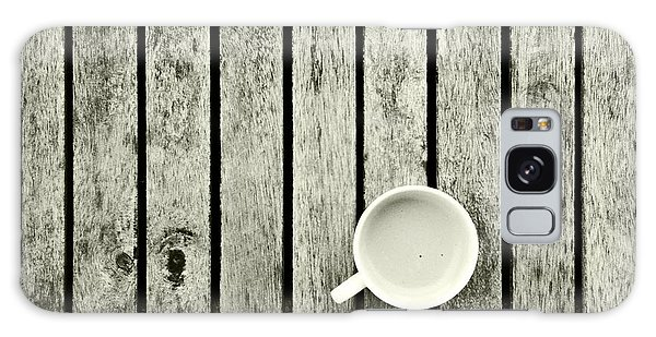 Espresso On A Wooden Table Galaxy Case