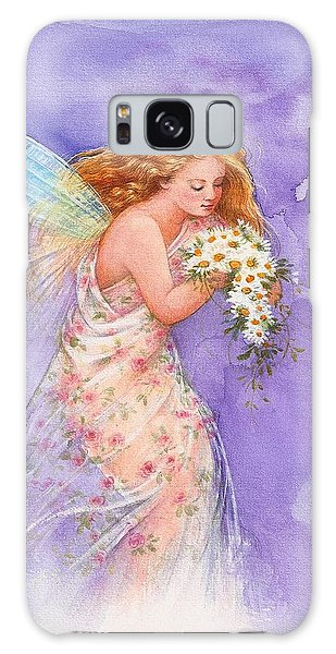 Ethereal Daisy Flower Fairy Galaxy Case