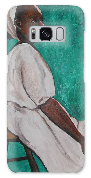 Ethiopian Woman In Green Galaxy Case by Esther Newman-Cohen