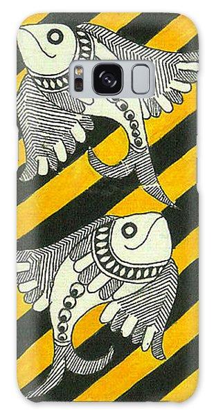 Madhubani Galaxy Case - Ethnic Salmons by Kalpana Tamboli
