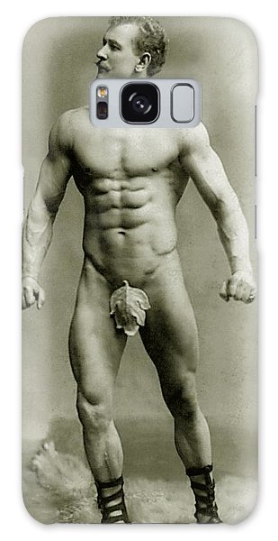 Moustache Galaxy Case - Eugen Sandow In Classical Ancient Greco Roman Pose by American Photographer