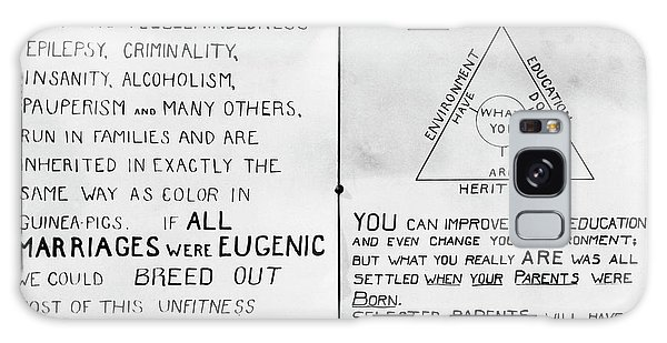 Traits Galaxy Case - Eugenics Posters At Public Fair by American Philosophical Society