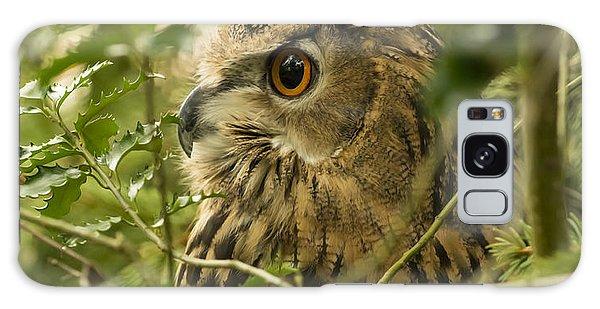 Eurasian Eagle-owl 2 Galaxy Case