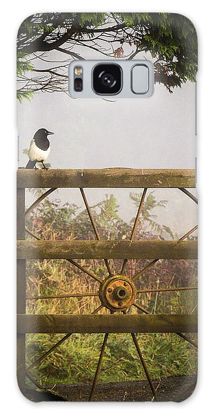 Eurasian Magpie In Morning Mist Galaxy Case
