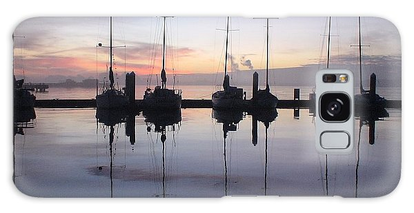Eureka Harbor At Sunset Galaxy Case