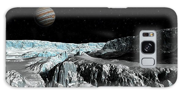 Europa's Icefield  Part 2 Galaxy Case by David Robinson