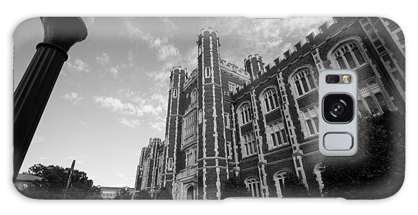 Evans Hall In Black And White Galaxy Case