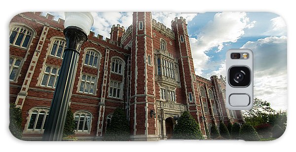 Oklahoma University Galaxy Case - Evans Hall In The Evening by Nathan Hillis